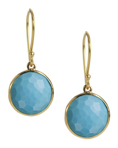 Mini Lollipop Earrings in Turquoise