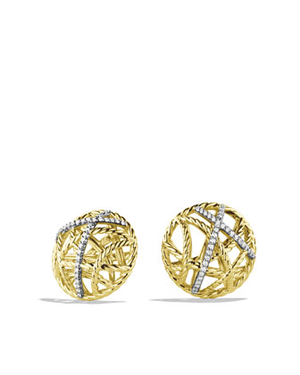 Lattice Earrings, Pave Diamond