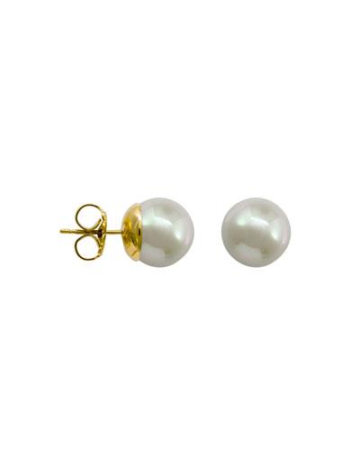 10mm Simulated Pearl Stud Earrings