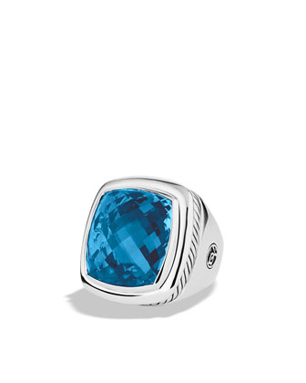 20mm Blue Topaz Albion Ring