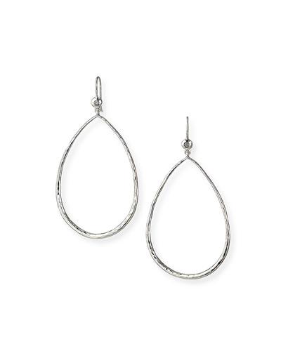 Open Teardrop Earrings with Diamonds