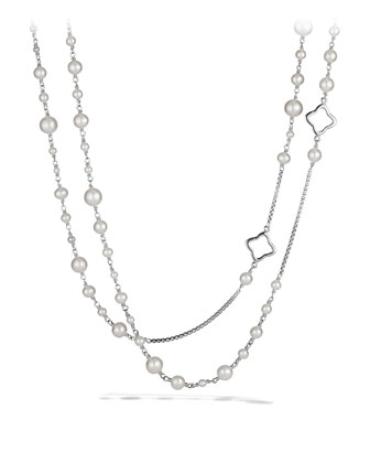 Pearl Quatrefoil Necklace