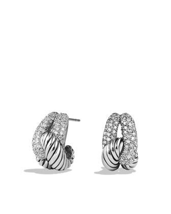 Pave Diamond Infinity Earrings