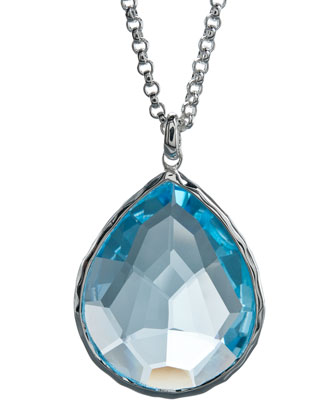 Topaz Pendant Necklace, Large