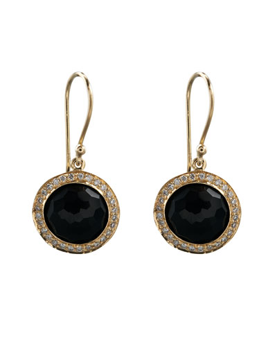 Mini Lollipop Earrings, Onyx