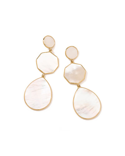 18k Gelato Crazy-Eight Earrings in Mother-of-Pearl