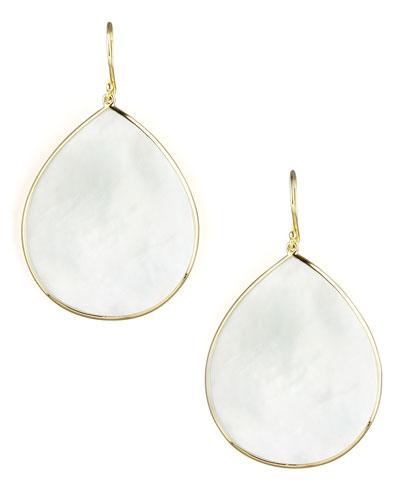 Mother of Pearl Slice Earrings