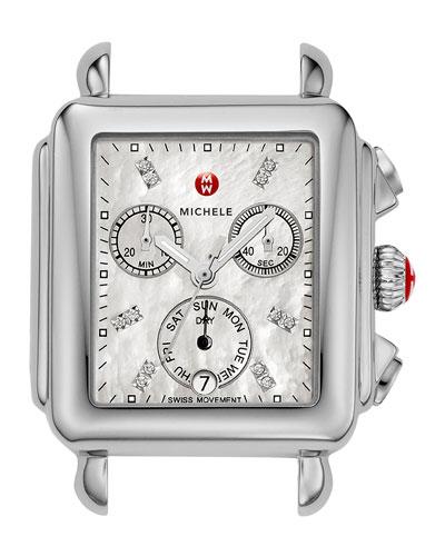 18mm Deco Diamond Dial Watch Head