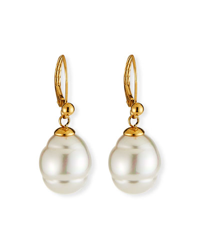 12mm Baroque Pearl Drop Earrings