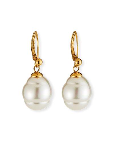 Quick Look Majorica 12mm Baroque Pearl Drop Earrings