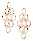 Rose Gold Open Cascade Post Earrings