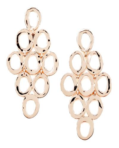 Rose Gold Open Cascade Post Earrings