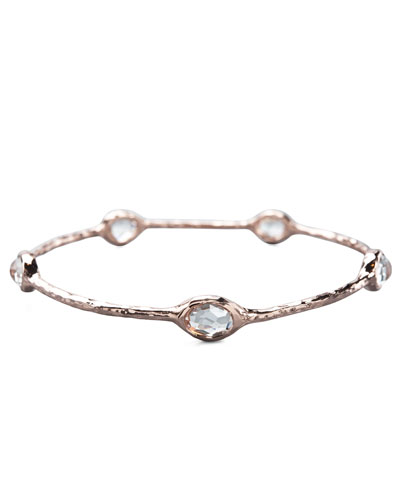 Ippolita Five-Stone Rose Bangle, Clear