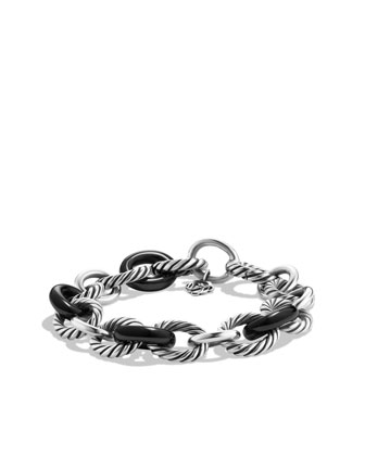Chain Bracelet, Black Ceramic