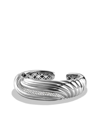 Sculpted Cable Cuff, Diamond