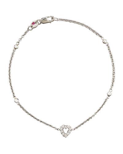 Exclusive Tiny Treasure Diamond Heart Bracelet