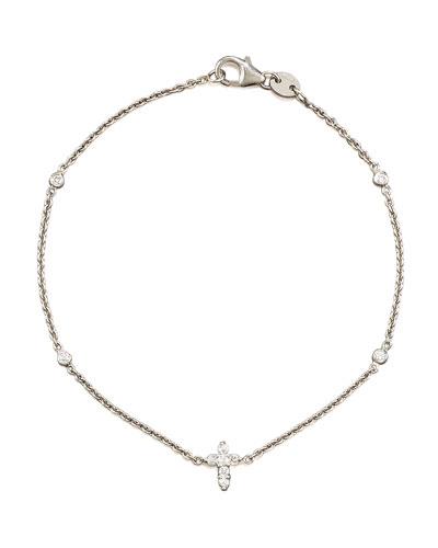 Exclusive Tiny Treasure Diamond Cross Bracelet