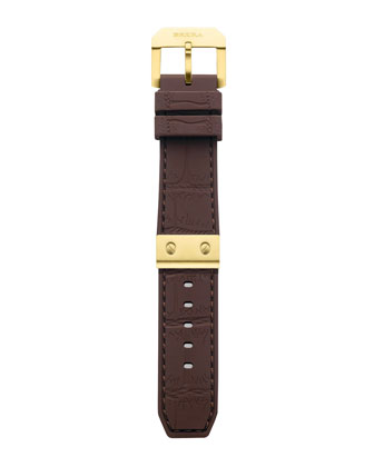 Brown Rubber Strap, 22mm