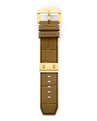Yellow Golden Camel Rubber Strap, 22mm