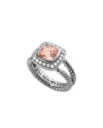 Petite Albion Ring, Morganite, 7mm