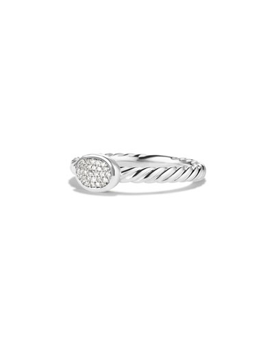 Cable Collectibles Heart Ring With Diamonds, Pave Diamonds