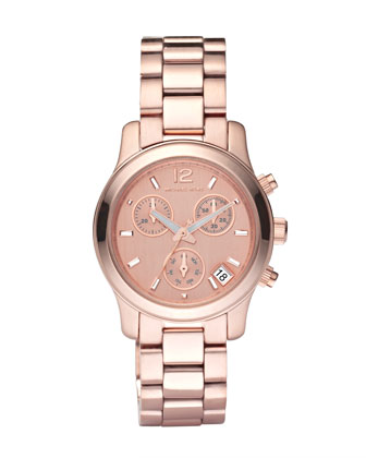 Round Watch, Rose Gold