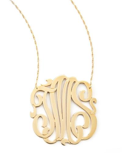 Three-Initial Pendant Necklace