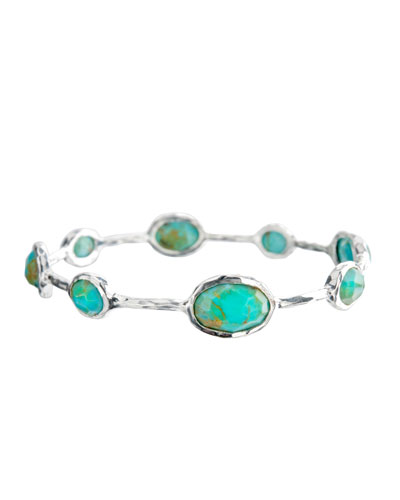 925 Rock Candy Eight-Stone Bangle in Turquoise