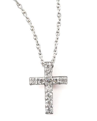 Pave Diamond Cross Necklace