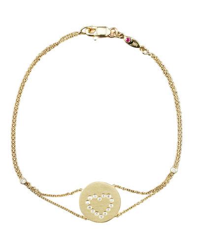 Exclusive Pave Heart Medallion Bracelet