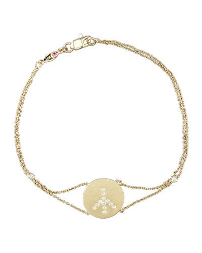 Exclusive Pave Peace Medallion Bracelet