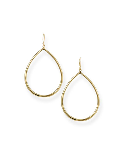 Quick Look Ippolita Wire Teardrop Hoop Earrings Large Available In Gold