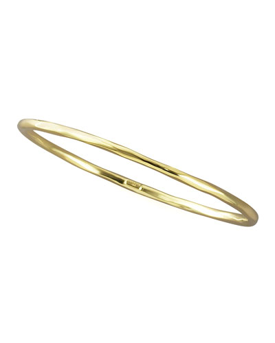 Thin Faceted Bangle