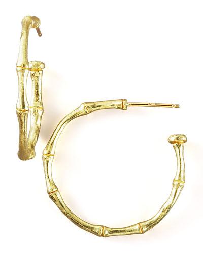 Bamboo Hoop Earrings