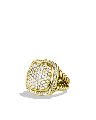 Albion Ring Pave Diamond, 17mm