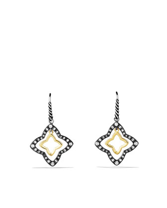Quatrefoil Earrings, Pave Diamond