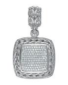 Square Pave Diamond Pendant