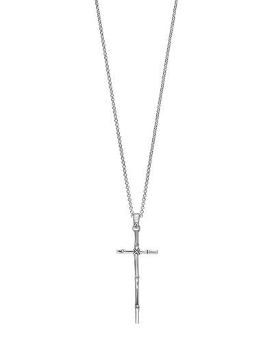 Bamboo Cross Pendant Necklace