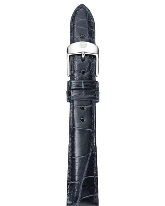 18mm Alligator Strap, Navy