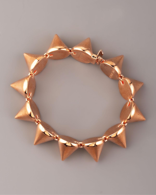 Large Rose Gold Cone Bracelet
