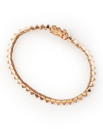 Rose Gold Pyramid Tennis Bracelet
