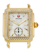 16mm Deco Diamond Watch Head, Gold