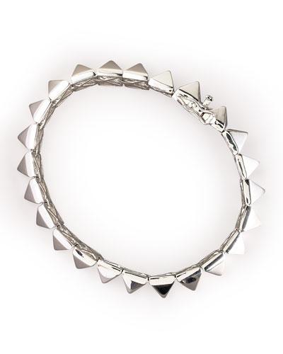 Pyramid Bracelet, Silver