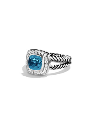 Petite Albion Ring, Hampton Blue Topaz, 7mm