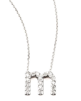 Diamond Letter Necklace, M