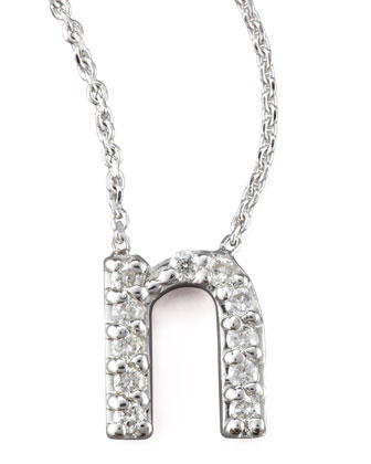 Diamond Letter Necklace, N