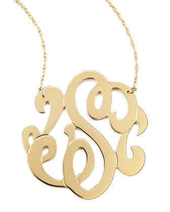 Swirly Initial Necklace, S
