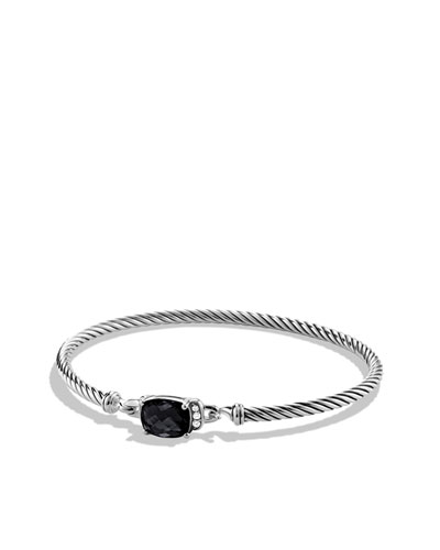 Petite Wheaton Bracelet with Black Onyx and Diamonds