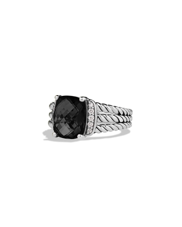 Petite Wheaton Ring with Black Onyx and Diamonds
