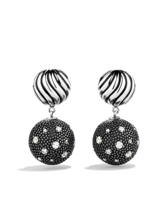 Starlight Earrings, Pave Diamond